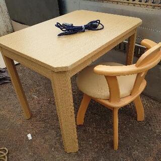 一人用 テーブルと椅子 こたつ
