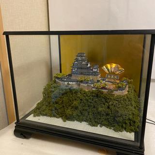 ★値下げ値下げ★光る! 姫路城 ガラスショーケース付 プラモデル 模型