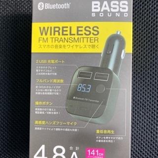 ワイヤレスFMトランスミッター(VTC-BT06 BK)新品