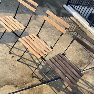中古 IKEA  椅子 折りたたみ 3脚