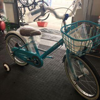 18インチ 補助輪付き自転車
