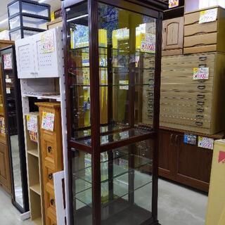 東洋家具 ガラスショーケース キャビネット 収納棚 78×34×...