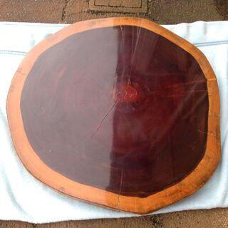 花梨 カリン ブビンガ 輪切り 一枚板 座卓 約1.0m