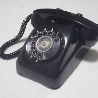 黒電話 600-A2 家庭用電話機 ダイヤル式 インテリアにどうぞ