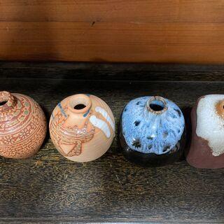 陶器の一輪挿し 花瓶 4個セット - 足利市