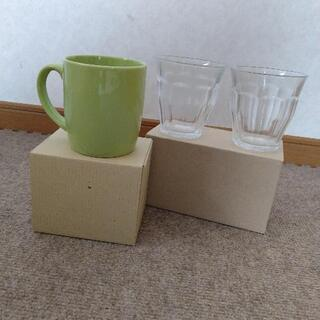 DURALEX  ガラスコップ2個とFrancfrancマグカッ...