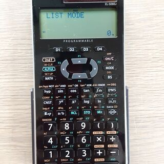 関数電卓 SHARP EL-5060J ピタゴラス プログラマブ...