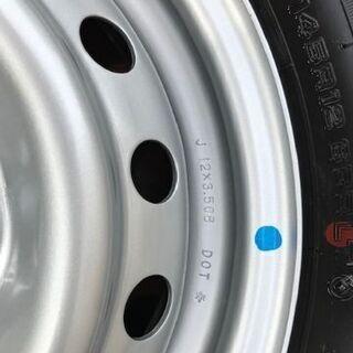 新車外しスズキキャリィトラック・エブリィバン用12インチ夏タイヤホイールセット1台分 - 青森市
