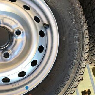 新車外しスズキキャリィトラック・エブリィバン用12インチ夏タイヤホイールセット1台分 − 青森県