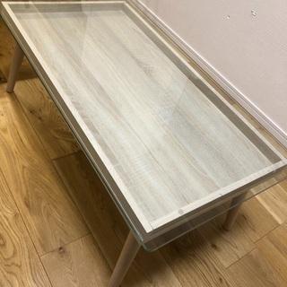 ガラステーブル ローテーブル 北欧 かわいい おしゃれ
