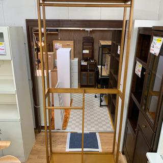 【リサイクルサービス八光 田上店 】木目調 大型ハンガーラック ...