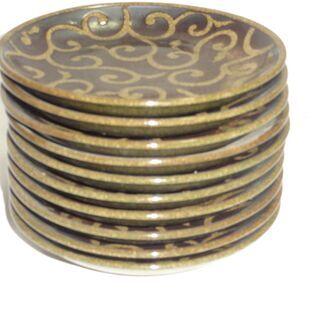 素朴な柄のお皿 大きさ約16.5㎝ 10枚