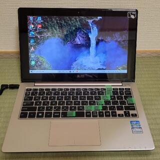 ASUS小型ノートPC Windows10!操作しやすいタッチパ...