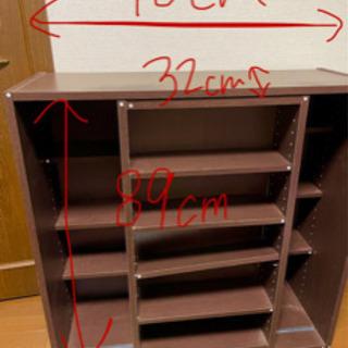 【ネット決済・配送可】スライド式 本棚 ブックシェルフ