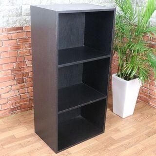 カラーボックス 3段BOX 黒/ブラック