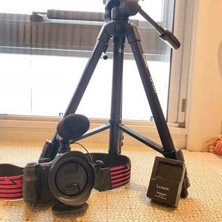 【ネット決済・配送可】【値下げ】カメラ、三脚、照明、マイク豪華4...