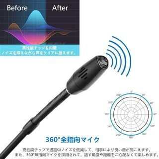PC用マイク USBマイク 全指向性 360° − 愛知県