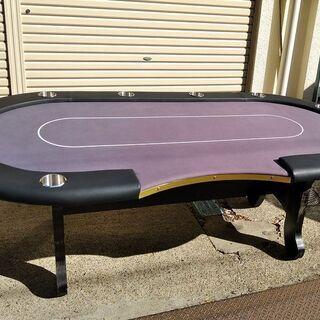【新品】本格 高級 ポーカーテーブル 10名用