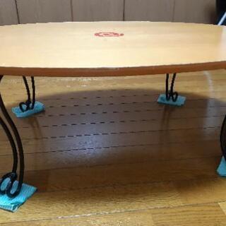 可愛い足折れローテーブル - 堺市