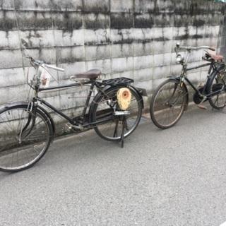 【ネット決済・配送可】昭和レトロ 自転車 2台 ①BSモーター4...