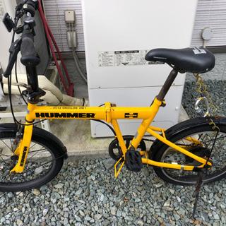 【最終値下げ!】HUMMER 折りたたみ自転車