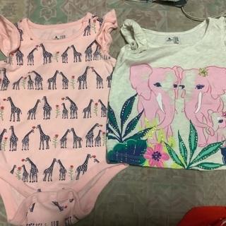 80㌢子供夏服、9枚セット、女の子用です③