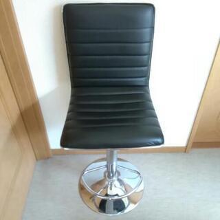 カウンターチェア 黒 椅子 ハイチェアー 昇降機能付き 6000...