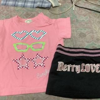 子供夏服90㌢5枚、95㌢2枚、女の子用です。