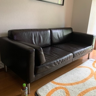 IKEAの3人掛けソファー 3P synthetic leath...