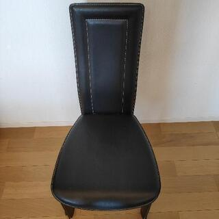 黒 椅子3脚 革製