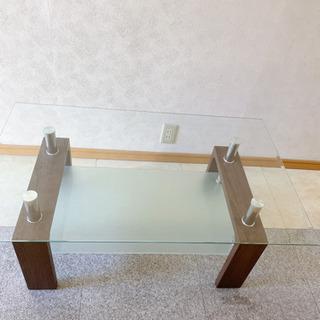 【超美品】ガラステーブル