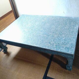 レトロ 大きめテーブル(グリーン系)