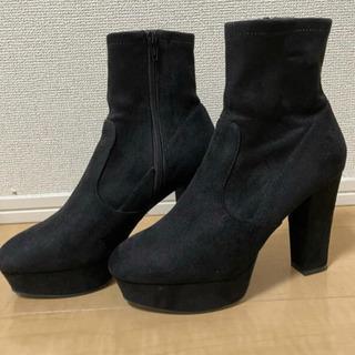 新品未使用 R&E ブーツ ブラック スエード ショートブ…