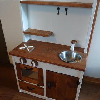 【早い者勝ち‼️】木製おままごとキッチン