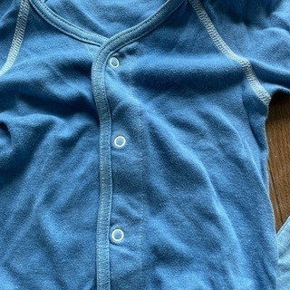 ロンパース 70 80 藍染 - 子供用品