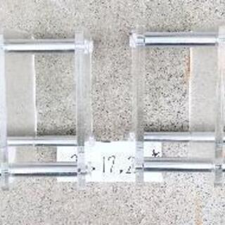 ラック2個  アクリル製 - 家具
