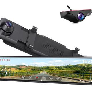 【新品未使用】ドライブレコーダー ミラー型 前後カメラ 200万...