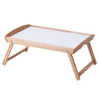 新品 バンブートレー テーブル 木製 IKEA ホワイト …