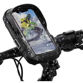 【新品未使用】自転車 スマホホルダー 防水 ロードバイク スタン...