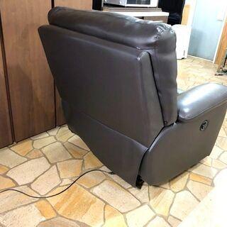 札幌近郊 送料無料 ニトリ リクライニング1Pソファ ビリーバー 本革 電動 - 家具