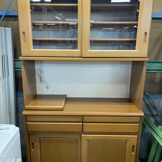 食器棚 レンジボード W1180×H2050×D450 木製 中古