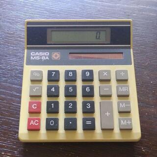 昭和レトロの電卓 CASIO MS-8A