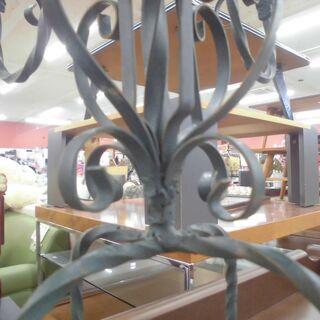 蝋燭立て キャンドルスタンド  インテリア雑貨 アンティーク 直径48x高さ31cm  ブラック系 苫小牧西店 - 家具
