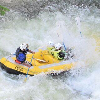 岩手県奥州市・胆沢川でラフティング体験・奥州湖でパックラフト体験...