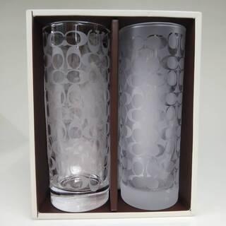 COACH ペアグラス シグネチャー コーチ ガラスカップ…