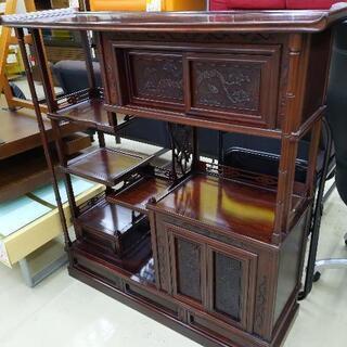 紫檀茶箪笥 茶棚 サイドボード 和家具 アンティーク 116×3...