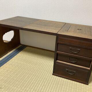 【昭和レトロ】【アンティーク】折り畳み文机