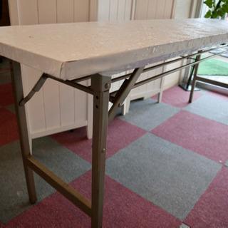 会議用テーブル  オフィス 折りたたみ/中棚付き