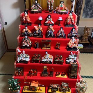 東玉 他 ひな人形 7段飾り お譲りします。