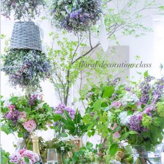 飾りながら生花からドライフラワーになる花のインテリア